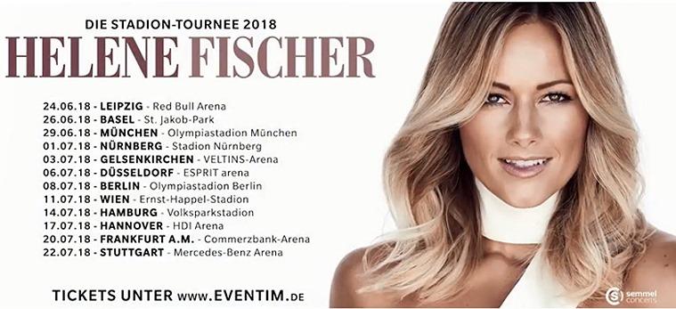 Helene Fischer Stadion-Tour 2018